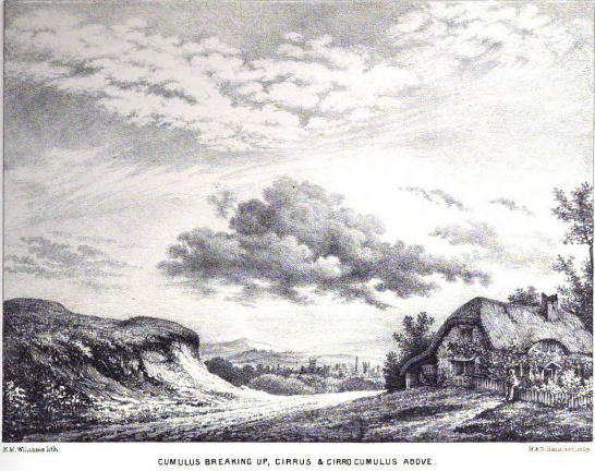 Plate 3 from Luke Howard's Essay on the Modification of Clouds (1865)