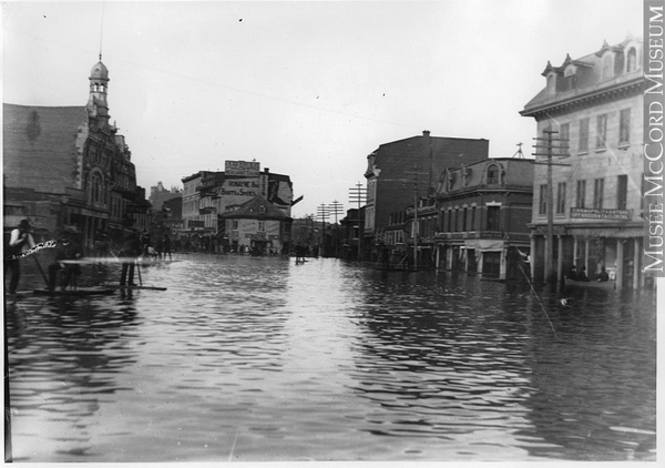 Rising water in Griffintown, 1873